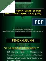 Prinsip Terapi DM Dgn OHO