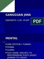 GANGGUAN JIWA