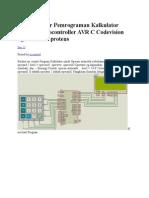 Contoh Dasar Pemrograman Kalkulator Dengan Microcontroller AVR C Codevision  Dgn Simulasi a288131011