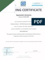 training certificates construction