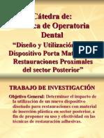 Catedra Tecnica Operatoria Dental