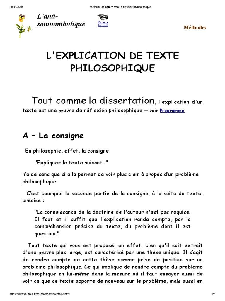 Comment Faire Une Explication De Texte Philo - Exemple de ...
