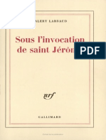 Sous L Invocation de Saint Jerome - Valery Larbaud