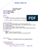 Proiect didactic Matematica