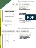 11. DESIGN Reinforced Concrete One-way Slab