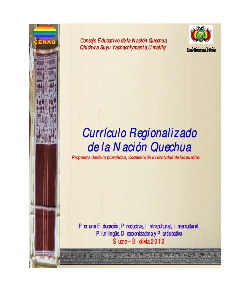 Curriculo Regionalizado-Nacion Quechua