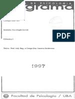 Psicología Social cát. Seidmann (UBA)- Programa 1997