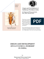 Origin & Development of Dattareya Worship in India