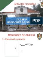 Clase II Medidores de Orificio y Descarga