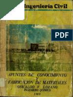 Apuntes de Conocimiento y Fabricacion de Materiales - Oswaldo v. Lozano 1963