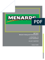 project proposal menards