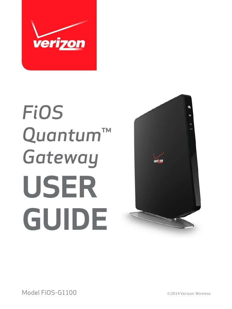 verizon fios gateway user guide computer network ip address rh scribd com Verizon Wireless My Account Time Warner Cable