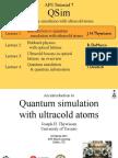 Ultracold Atoms Slides