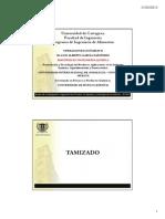 Operaciones Unitarias II 2 Tamizado 2013