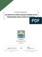 #Les Impacts Du Projet Oléoduc..