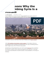 10 Reasons Why the UK Bombing Syria is a Mistake