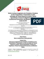 Ley para el juzgamiento de la presidenta o el presidente Bolivia