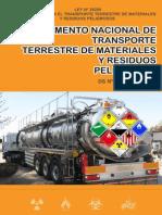 REGLAMENTO NACIONAL DE TRANSPORTE TERRESTRE DE MATERIALES Y RESIDUOS PELIGROSOS
