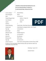 Biodata Peserta Praktikum Farmakologi