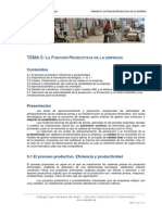 Economc3ada de La Empresa Ud 5 La Funcic3b3n Productiva de La Empresa