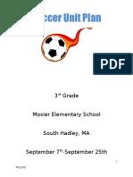 3rd grade soccer unit plan