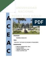 Análisis y Estudio Económico Financiero