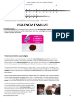 Concepto de Violencia Familiar