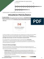 Concepto de violencia psicológica