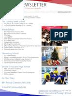 BIFS Newsletter, 2015-12-11 (English)