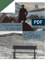 Alain Corbin - L'homme dans le paysage