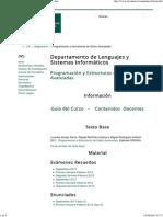 LSI - Programación y Estructuras de Datos Avanzadas