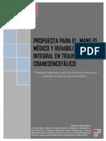 Propuesta para el manejo  medico y Rehabilitacion integral en Trauma Craneoencefalico
