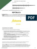 Concepto de república