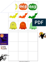 Halloween Logic Puzzle-Board and Pieces