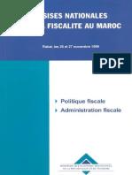 Assises Nationales Sur La Fiscalite Au Maroc
