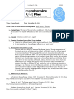 final unit plan social history of rome