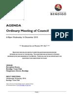 Council agenda - December 16, 2015