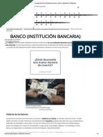 Concepto de banco (institución bancaria)
