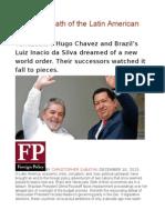 The Sad Death of the Latin American Left