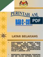 Perintah Am Bab c (Cuti)