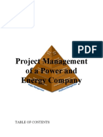 Project Management of a Power and Energy Company