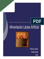Alimentación Láctea Artificial Enfermeria