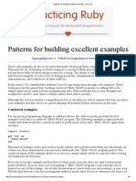 Patterns for Building Excellent Examples - Issue 3