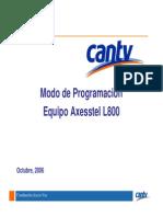 CantvModo deProgramación EquipoAxesstelL800