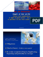 EVE OF SHAWWAL EID AL FITR SUPPLICATIONS