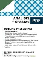 Dasar Analisis Spasial