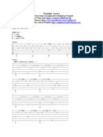 Flashlight Fingerstyle Guitar TAB