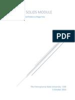 solids module report