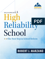 Marzano Becoming a High Reliability School PDF 051613