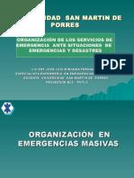 Organizacion en Emergencias Masivas Usmp-tema 16